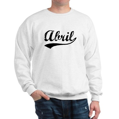 Vintage Abril (Black) Sweatshirt