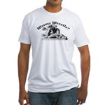 Wanna Wrestle Fitted T-Shirt