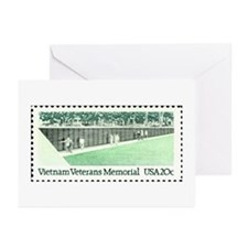 Stamp-Collecting-Vietnam-wall_10x10 Greeting Cards