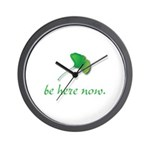 Be Here Now. Ginkgo leaf Wall Clock