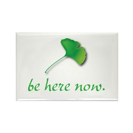 Be Here Now. Ginkgo leaf Rectangle Magnet (100 pac
