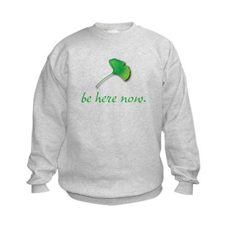 Be Here Now. Ginkgo leaf Kids Sweatshirt