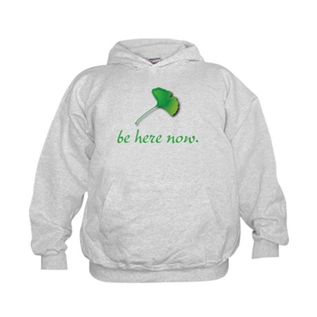 Be Here Now. Ginkgo leaf Kids Hoodie