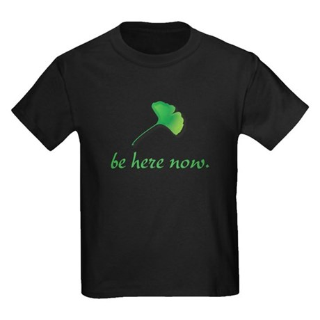 Be Here Now. Ginkgo leaf Kids Dark T-Shirt