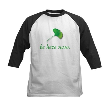 Be Here Now. Ginkgo leaf Kids Baseball Jersey