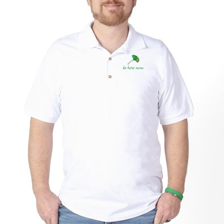 Be Here Now. Ginkgo leaf Golf Shirt