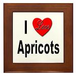 I Love Apricots Framed Tile