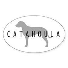 Catahoula Oval Decal