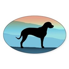 Catahoula Blue Mt. Oval Decal
