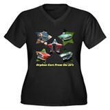 &quot;Orphan Cars of the 50's&quot; Women's Plus Size V-Neck