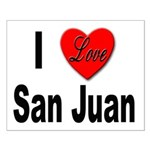 I Love San Juan Puerto Rico Small Poster