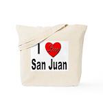 I Love San Juan Puerto Rico Tote Bag