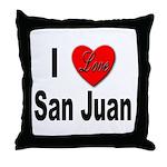 I Love San Juan Puerto Rico Throw Pillow