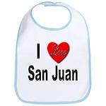I Love San Juan Puerto Rico Bib