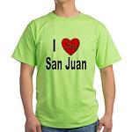 I Love San Juan Puerto Rico Green T-Shirt