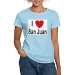 I Love San Juan Puerto Rico (Front) Women's Pink T