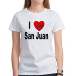 I Love San Juan Puerto Rico (Front) Women's T-Shir