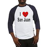 I Love San Juan Puerto Rico Baseball Jersey
