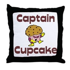 Captain Cupcake Superhero Throw Pillow