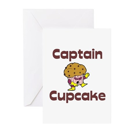 Captain Cupcake Superhero Greeting Cards (Pk of 10
