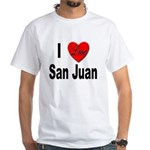 I Love San Juan Puerto Rico White T-Shirt