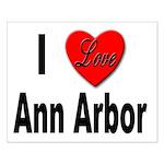 I Love Ann Arbor Michigan Small Poster