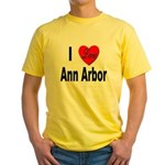 I Love Ann Arbor Michigan Yellow T-Shirt
