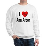 I Love Ann Arbor Michigan (Front) Sweatshirt