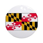 Maryland Blank Flag Ornament (Round)