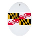 Maryland Blank Flag Oval Ornament
