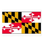 Maryland Blank Flag Postcards (Package of 8)