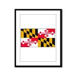 Maryland Blank Flag Framed Panel Print