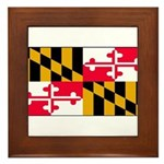 Maryland Blank Flag Framed Tile