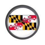 Maryland Blank Flag Wall Clock