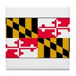 Maryland Blank Flag Tile Coaster