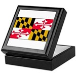 Maryland Blank Flag Keepsake Box