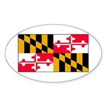 Maryland Blank Flag Oval Sticker