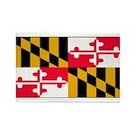 Maryland Blank Flag Rectangle Magnet