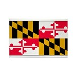 Maryland Blank Flag Rectangle Magnet (10 pack)