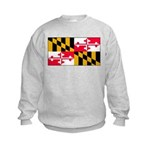 Maryland Blank Flag Kids Sweatshirt