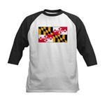 Maryland Blank Flag Kids Baseball Jersey