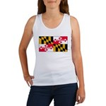 Maryland Blank Flag Women's Tank Top