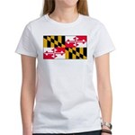 Maryland Blank Flag Women's T-Shirt