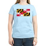 Maryland Blank Flag Women's Light T-Shirt