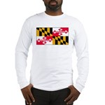 Maryland Blank Flag Long Sleeve T-Shirt