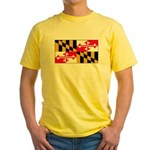 Maryland Blank Flag Yellow T-Shirt