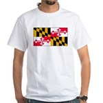 Maryland Blank Flag White T-Shirt