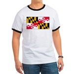 Maryland Blank Flag Ringer T
