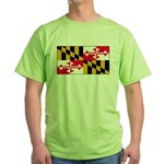 Maryland Blank Flag Green T-Shirt