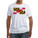 Maryland Blank Flag Fitted T-Shirt